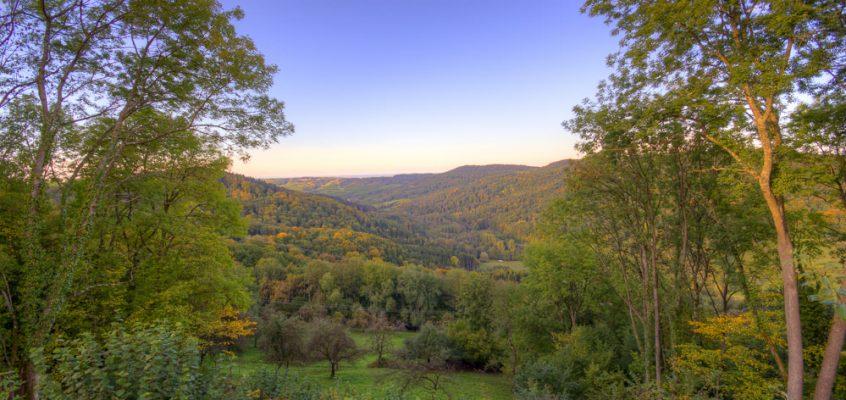Herbstliches Brettachtal
