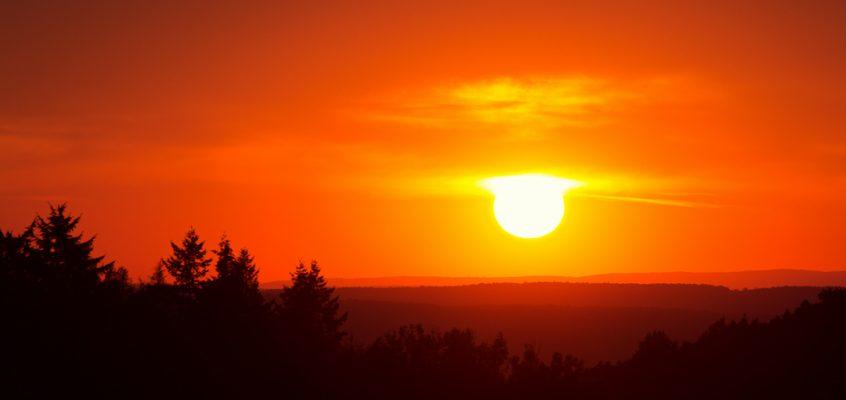 Wenn die Sonne durch die Wolken fällt